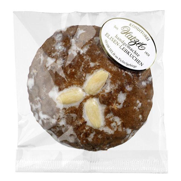 1 Elisen-Lebkuchen mit Zuckerglasur/Mandel