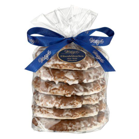Hatzel 6 Elisen-Lebkuchen, ohne Mehl gebacken, Zuckerglasur